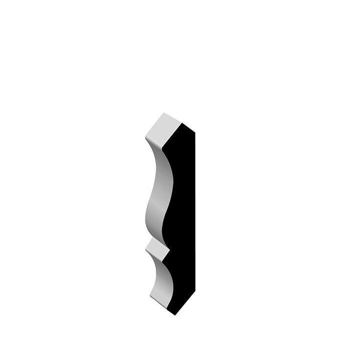"""00051 PINE Solid Wood Crown 9/16"""" x 3-1/4"""""""
