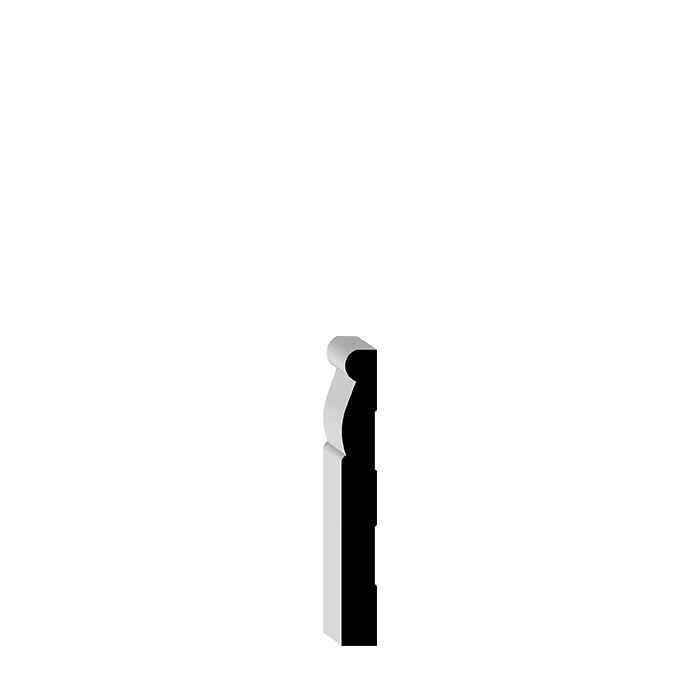 00LK4 Primed Finger Jointed Pine Baseboard