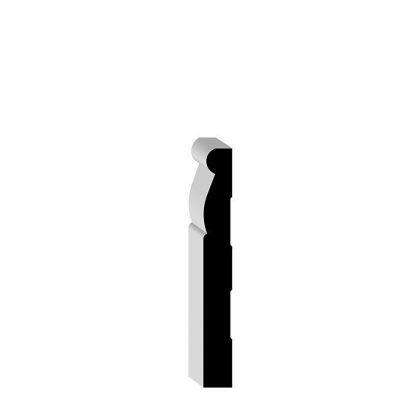 "00LK4 PINE Solid Wood Baseboard 9/16"" x 4-1/4"""