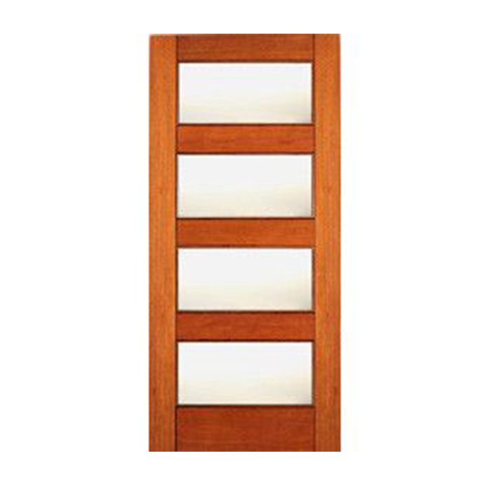 4 Lite Equal Mate Glass Mahogany Interior Door Craftwood