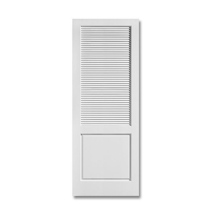 Louver over panel primed doors craftwood products for