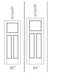 3 Panel Shaker Molded Interior Doors Drawing