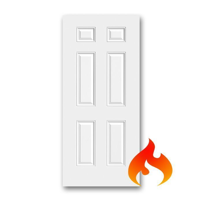 Steel 6 Panel Fire Rated Doors Craftwood Products For