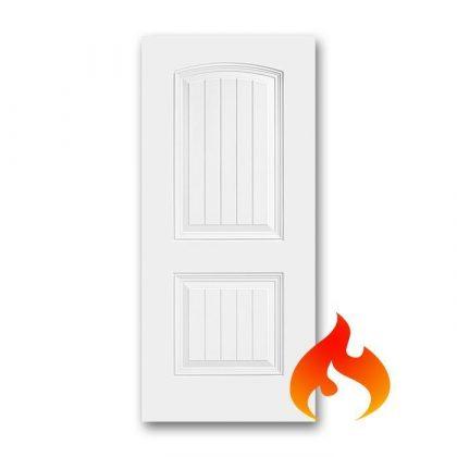 Steel 2 Panel Roman Plank Fire Rated Doors