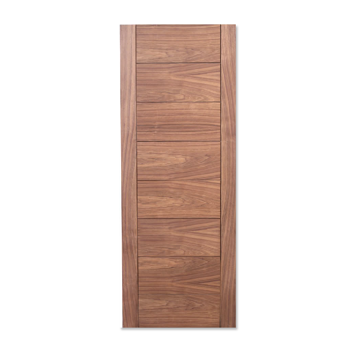 Craftwood Products - Interior Doors - Wood Interior Doors - Walnut Stock Doors - MD15 Modern with Grooves