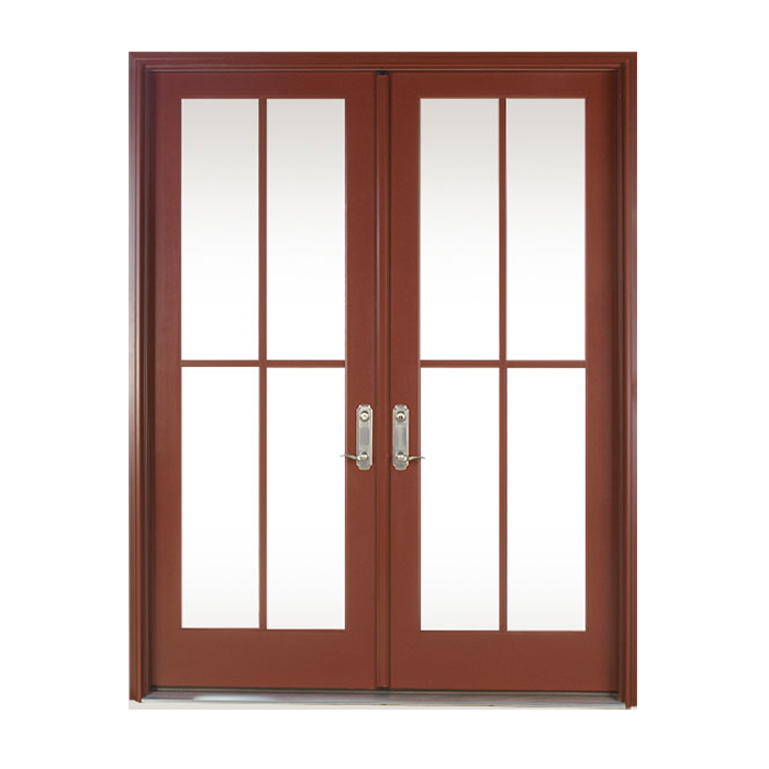 Wood clad french patio doors the great sliding door with for Compare new construction windows