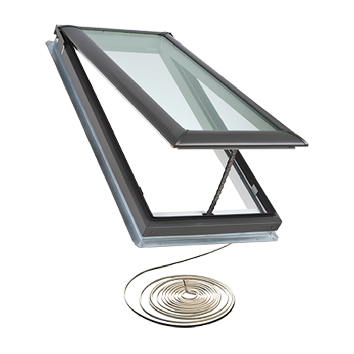 Electric fresh air skylights craftwood products for for How to clean velux skylights