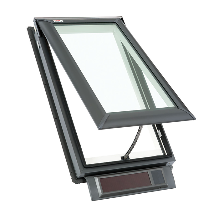 Solar fresh air skylights craftwood products for for Velux skylight remote control manual