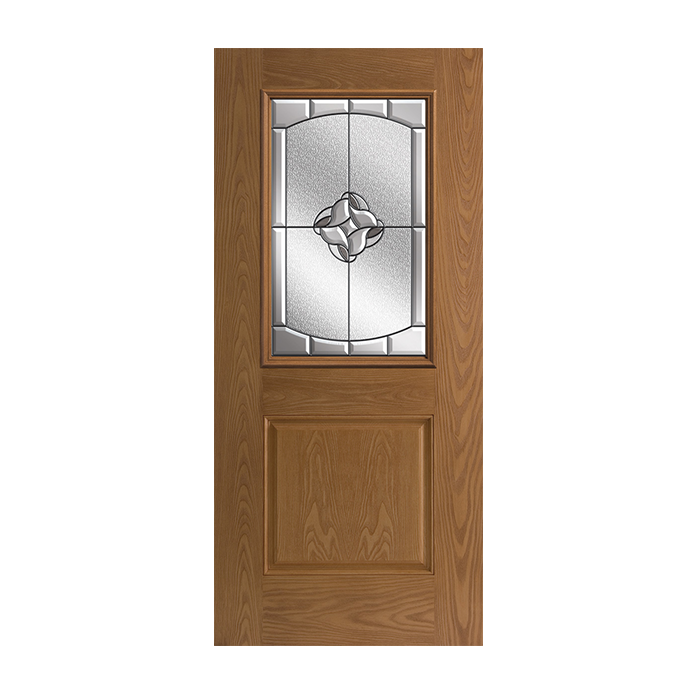 Belleville 106 1 with rozet glass craftwood products for Belleville fiberglass doors