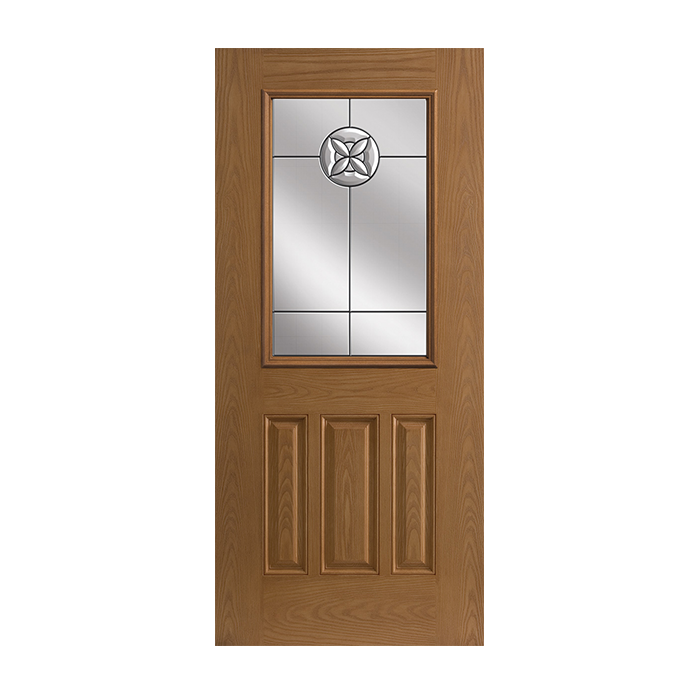 Belleville 106 3 with flora crest glass craftwood for Belleville fiberglass doors