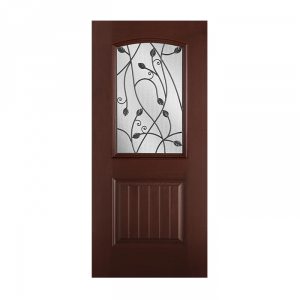 Belleville 107 1p with sienna glass craftwood products for Belleville fiberglass doors