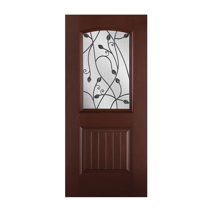 Belleville 107 1p with sienna glass craftwood products Belleville fiberglass doors