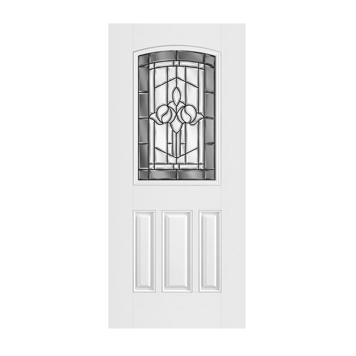 Belleville 107 3 with madrid glass craftwood products for Belleville fiberglass doors