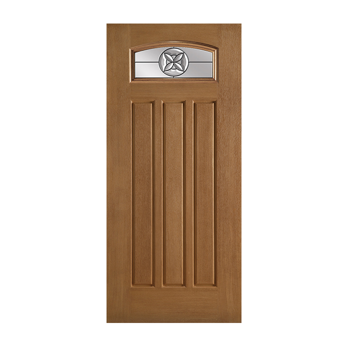 Belleville 137 3 with flora crest glass craftwood for Belleville fiberglass doors