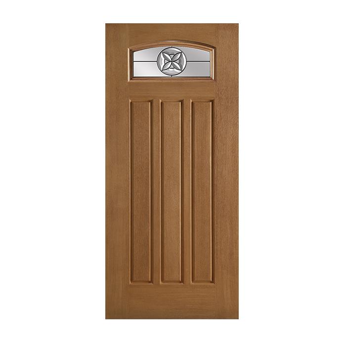 Belleville 137 3 with flora crest glass craftwood for Belleville fiberglass doors