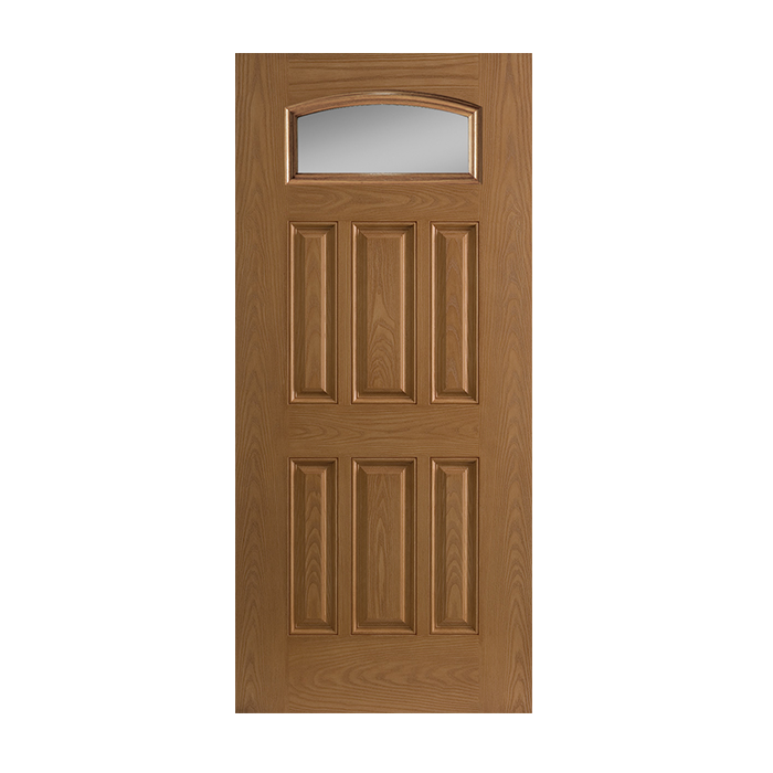 Belleville 137 6 with clear glass craftwood products for for Belleville fiberglass doors