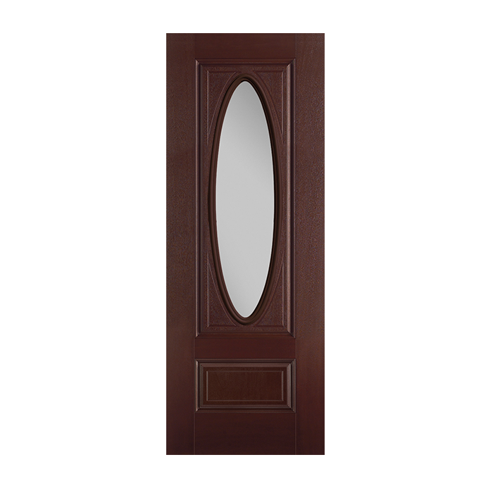 Belleville 306 2 with clear glass craftwood products for for Belleville fiberglass doors