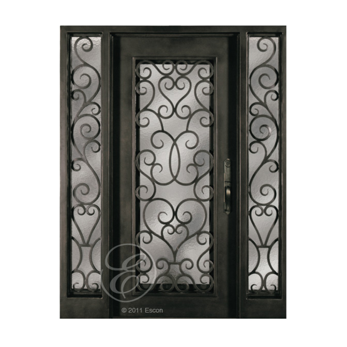 Craftwood Products - Exterior Doors - Wood Doors - Escon Doors - Forged iron Doors -  sc 1 st  Craftwood Products for Builders and Designers in Chicago & S516WHOXO/51 (Single Door Two Sidelites) | Craftwood Products for ...