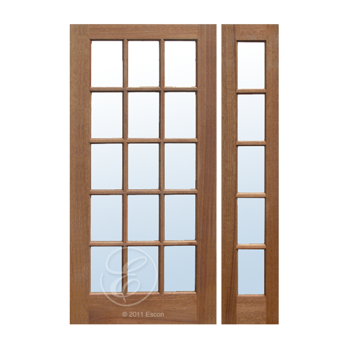 Mf15 french door craftwood products for builders and for Wood french doors exterior