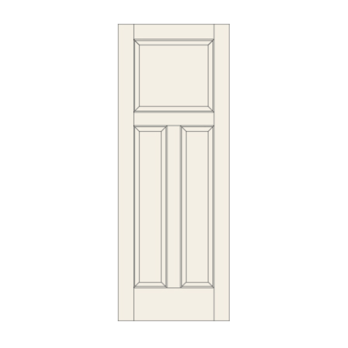 C35 Three Panel Door Craftwood Products For Builders And Designers