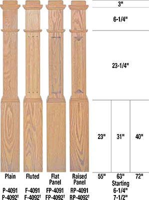 Rp 4092 Box Newel Flat Panel Craftwood Products For