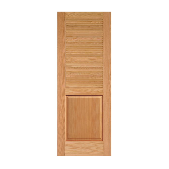 Louver over panel oak doors craftwood products for Prehung louvered interior doors