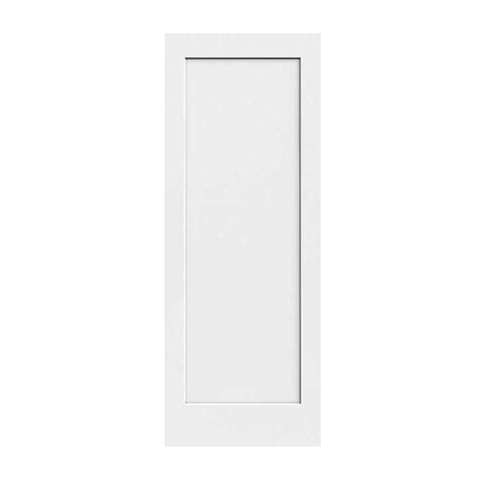 C11 1 panel shaker style primed craftwood products for 1 panel shaker door