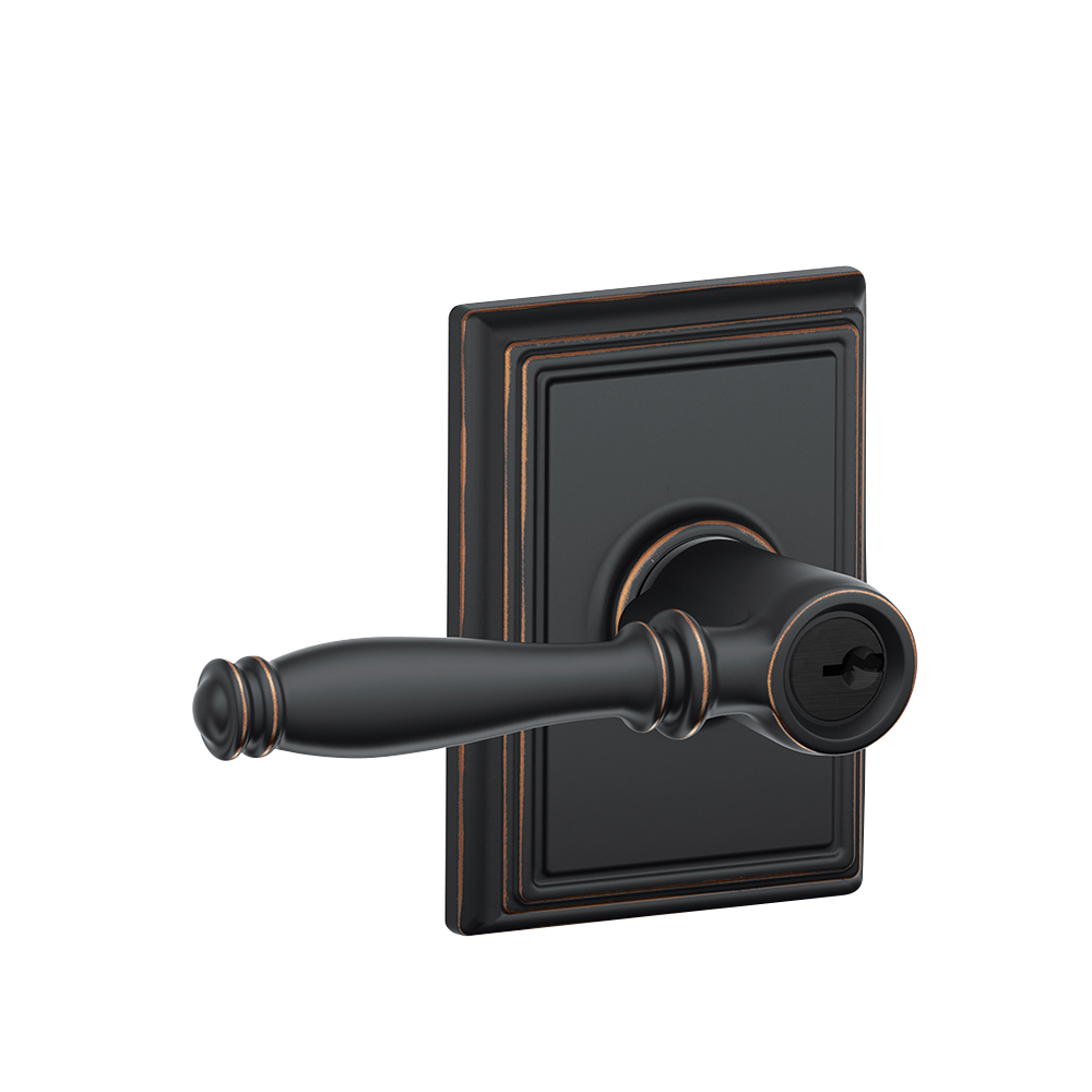 Birmingham Lever With Addison Trim Keyed Entry Lock