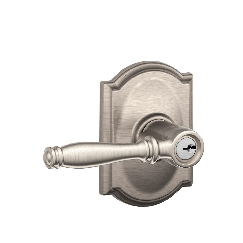 Lever Handle Lock : Birmingham lever with camelot rosette keyed entry lock
