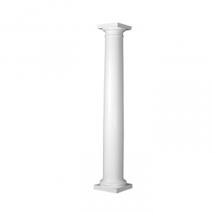 Turncraft round poly classic tapered column plain for Polyurethane columns