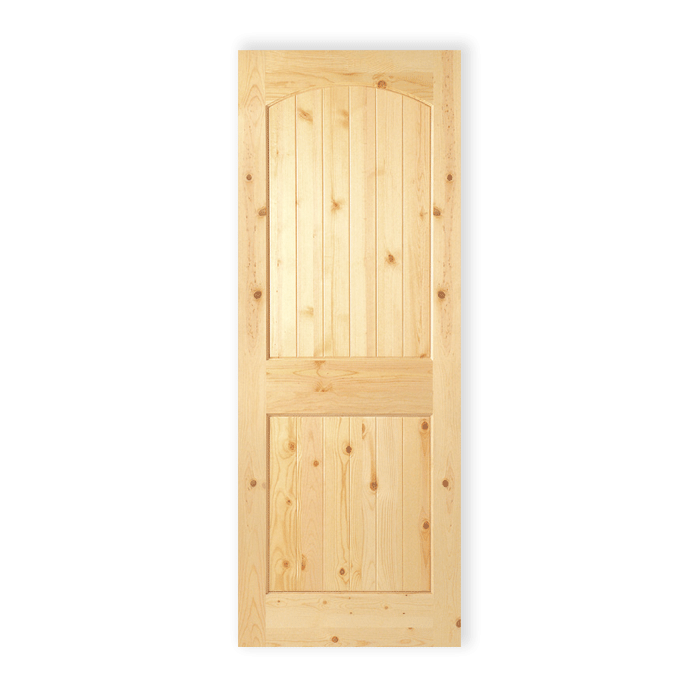 Knotty Pine Cabinet Doors: 2 Panel Arch Plank – Knotty Pine – 802
