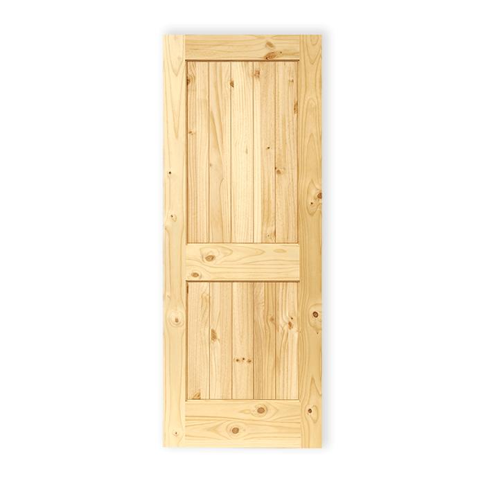 Knotty Pine Cabinet Doors: 3 Panel Shaker – Knotty Pine – 591