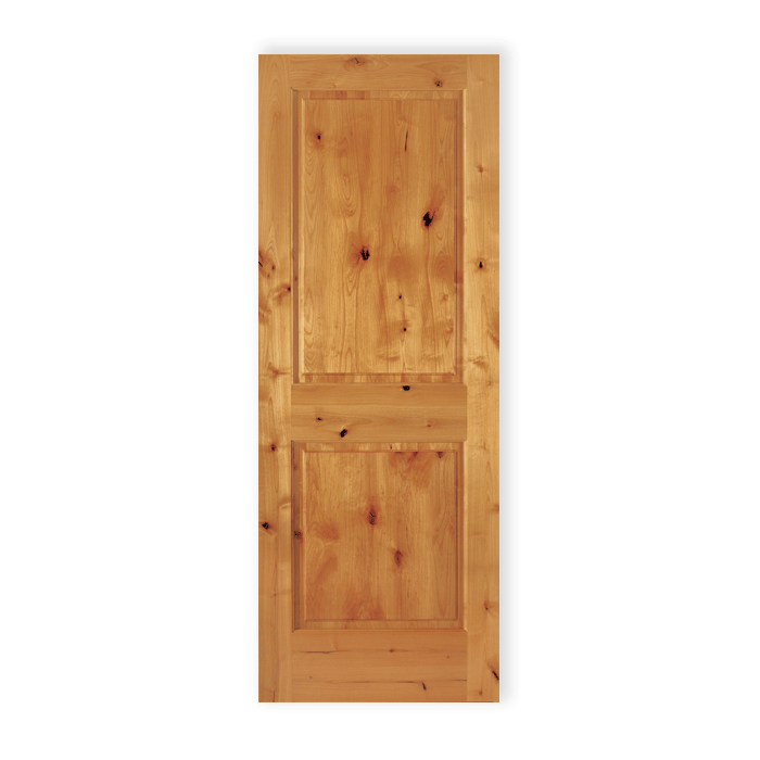 2 Panel Square Knotty Alder 22 Craftwood Products For Builders