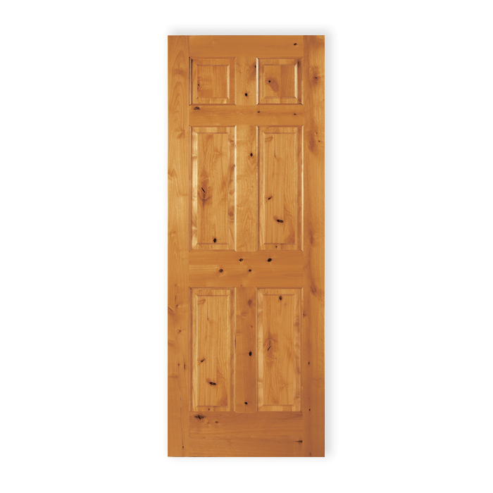 Craftwoodproducts Interior Doors Knotty Alder 6panel 66