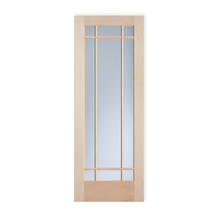 9 Lite Maple Clear Glass Ovolo Sticking Craftwood Products For